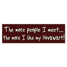 The More People Hovawart Bumper Bumper Sticker