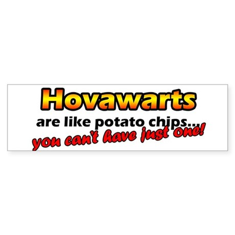 Potato Chips Hovawarts Bumper Sticker