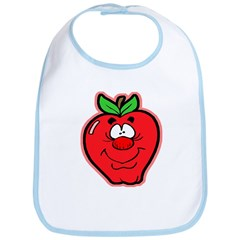 Silly Apple Bib