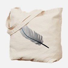 Gray Quill Tote Bag