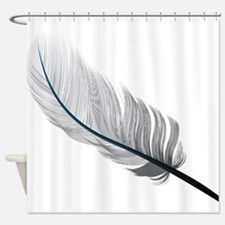 Gray Quill Shower Curtain