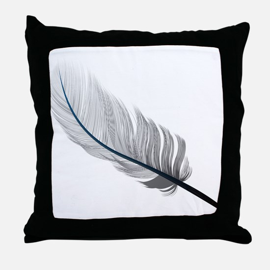 Gray Quill Throw Pillow