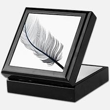 Gray Quill Keepsake Box