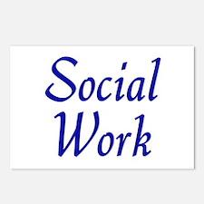 Social Work (blue) Postcards (Package of 8)