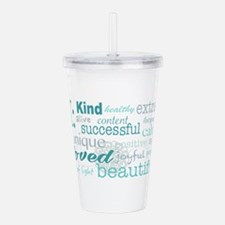 Daily Affirmations Acrylic Double-wall Tumbler