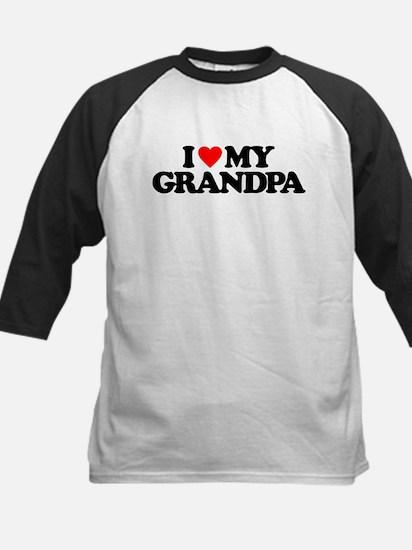 I LOVE MY GRANDPA Kids Baseball Jersey