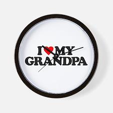 I LOVE MY GRANDPA Wall Clock