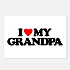 I LOVE MY GRANDPA Postcards (Package of 8)