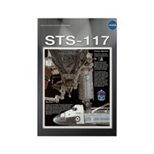 STS 117 Mission Poster Rectangle Magnet
