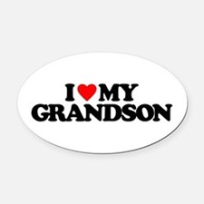I LOVE MY GRANDSON Oval Car Magnet