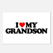 I LOVE MY GRANDSON Postcards (Package of 8)