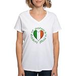 Tricolour Heart Women's V-Neck T-Shirt