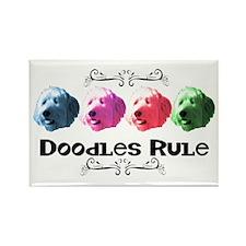 New Doodles Rule! Rectangle Magnet