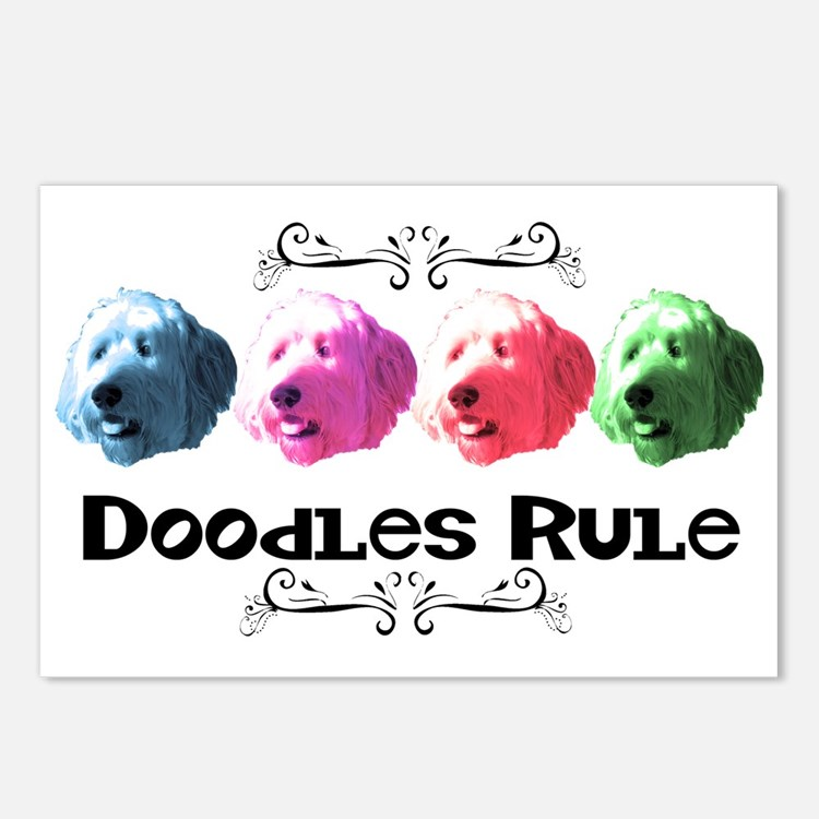 New Doodles Rule! Postcards (Package of 8)