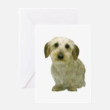 White Wire Haired Dachshund Greeting Card