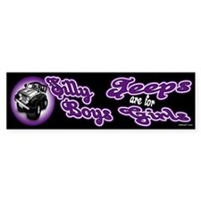 Jeeps are for Girls Bumper Car Sticker