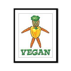 Funny Vegan Framed Panel Print