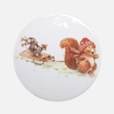 Winter Fun Ornament (Round)