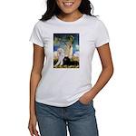 Umbrella / 2 Poodles(b & w) Women's T-Shirt