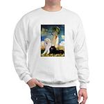 Umbrella / 2 Poodles(b & w) Sweatshirt