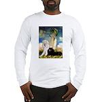 Umbrella / 2 Poodles(b & w) Long Sleeve T-Shirt