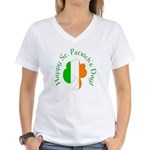 Irish Flag Greetings Women's V-Neck T-Shirt