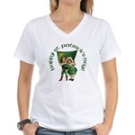 Wearin' of the Green Women's V-Neck T-Shirt