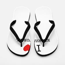 I Love EXCAVATORIAL Flip Flops
