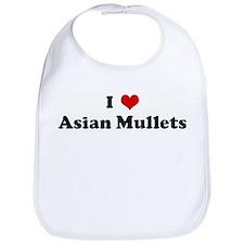I Love Asian Mullets Bib