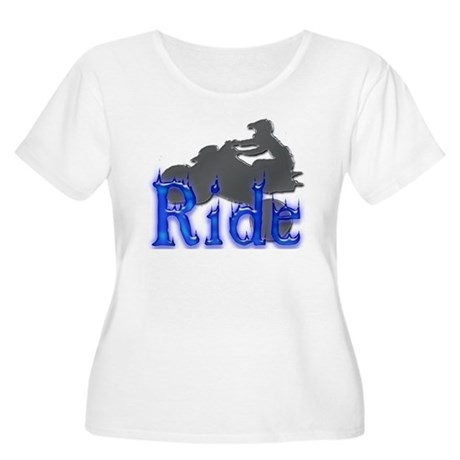 Ride All Day Women's Plus Size Scoop Neck T-Shirt