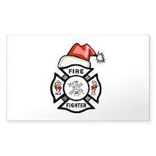 Firefighter Santa Decal