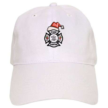 Firefighter Santa Cap