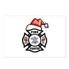 Firefighter Santa Postcards (Package of 8)