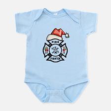 Firefighter Santa Infant Bodysuit