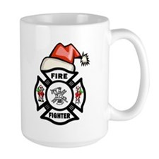 Firefighter Santa Mug