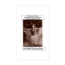 #1 Muff Diving Ace Rectangle Decal
