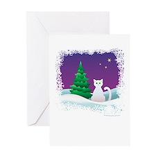 Winter Kitty Greeting Card
