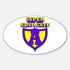 Super Advocate Oval Decal