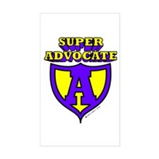Super Advocate Rectangle Decal
