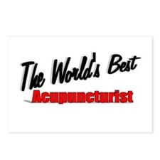 """The World's Best Acupuncturist"" Postcards (Packag"