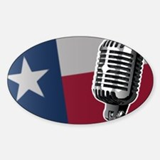 Texas Flag And Microphone Decal