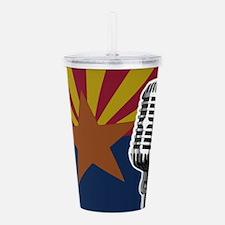 Arizona Flag And Micro Acrylic Double-wall Tumbler