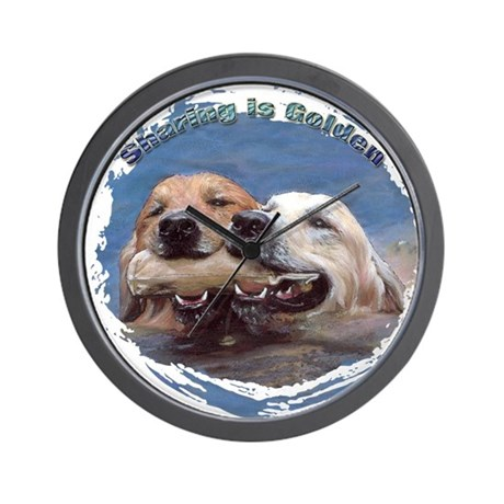 Golden Retriever - Sharing is Wall Clock