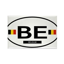Belgium 2F Rectangle Magnet