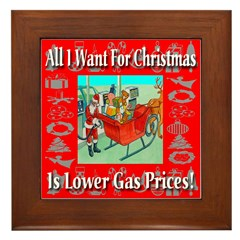 All I Want For Christmas Is L Framed Tile