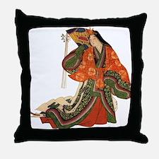 Japanese Princess Throw Pillow