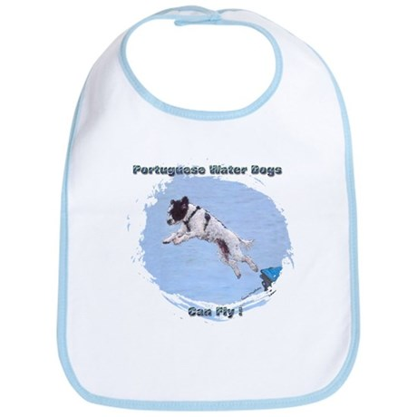 Portuguesse Water Dog Can Fly Bib