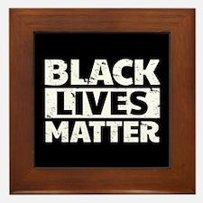 Black Lives Matter Framed Tile