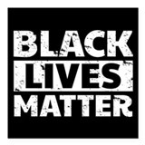 Black lives matter Square Car Magnets