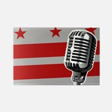 Washington DC Flag And Microphone Magnets